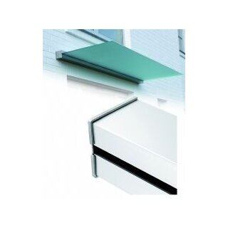 Linear Set 2m eckig Ohne Glas. Aus-ladung max 1m,