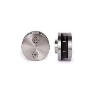 V4A-Glasklemme rund Ø60 mm, Anschluss flach, Glas 8 - 12,76 mm