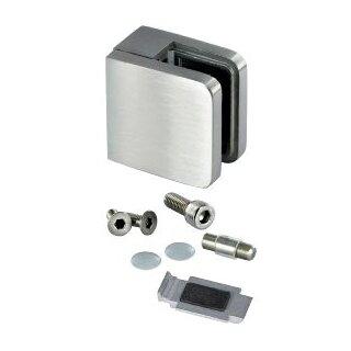V4A-Glasklemme 45 x 45 x 26 mm, Modell 21, AbZ, Anschluss flach, Glas 6 - 10,76 mm