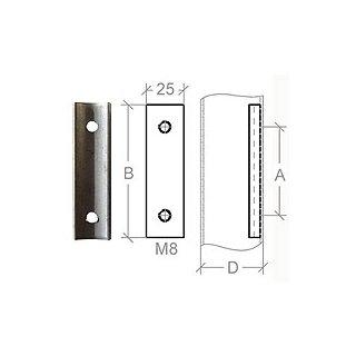 VA-Anschraubplatte Ø42,4 mm, L=90 mm, t=4 mm