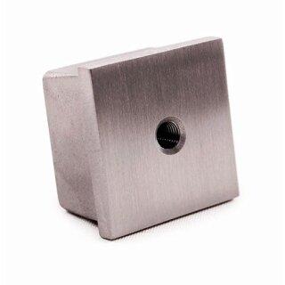 VA-Endkappe 40 x 40 x 2 mm M8 hohl