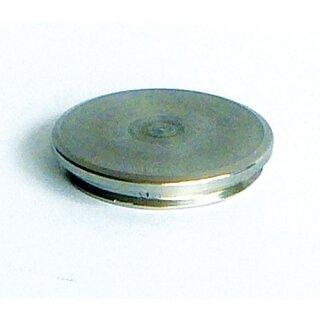VA-Endkappe flach Ø42,4 x 2 mm massiv Rille