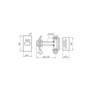 Torspezialband M16 verstellbar in 3 Ebenen einfach
