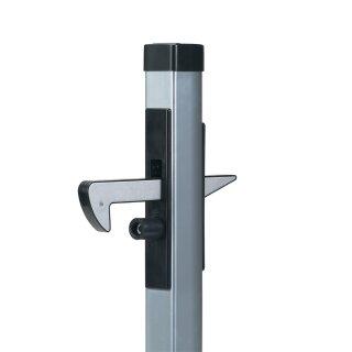 ALU-Torfeststeller, B=42 mm, T=205 mm, H=500 mm, oben