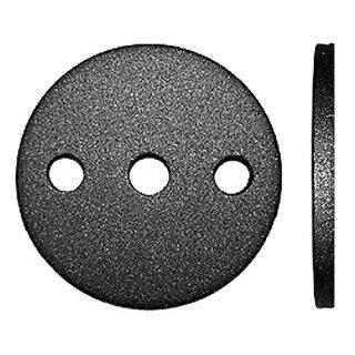 Ronde Stahl Ø80 x 6 mm, 3 Loch-Bohrung