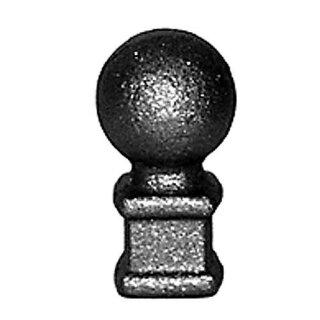 Zaunspitze-Kugel Ø33 mm, h= 60 mm, Ansatz 25 x 25 mm