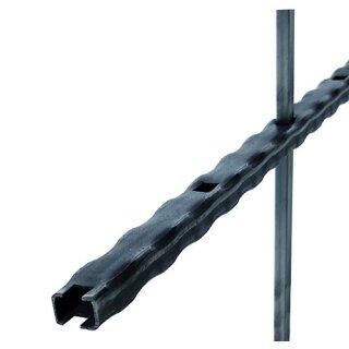 Rechteckrohr kantengehämmert 40 x 20 x 2,5 x 3000 mm durchgehend gelocht 12 x 12 mm, A= 125 mm