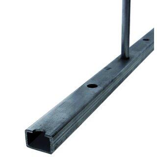Rechteckrohr glatt 40 x 20 x 2,5 x 3000 mm einseitig gelocht Ø12 mm, A= 125 mm