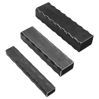 Quadratrohr 40 x 40 x 2,5 x 3000 mm, kantengehämmert