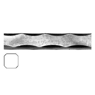 Vierkantmaterial 25 x 25 x 3000 mm Kantengehämmert