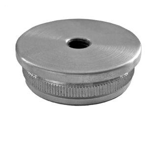 VA-Endkappe flach Ø42,4 x 2 mm M8 hohl