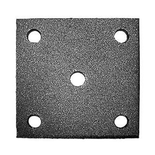 Anschraubplatte 120 x 120 mm, 1 Loch Ø12,5 mm, 4x Loch Ø11 mm