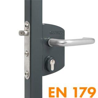 Panikschloss (zertifiziert) // 4040 (40-60 mm Profile) // anthrazit RAL7016