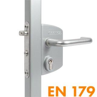 Panikschloss (zertifiziert) // 6060 (60-80 mm Profile) // Silber