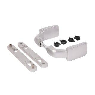Aluminium eloxiertes Drückerpaar mit fester und/oder drehbarer Betätigung