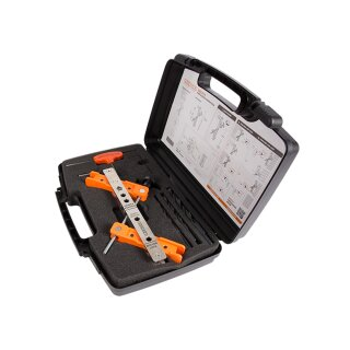 Werkzeugkoffer mit Bohrschablone für Schloss und Anschlag