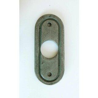 Drückerrosette 30 x 73 mm, gerillt